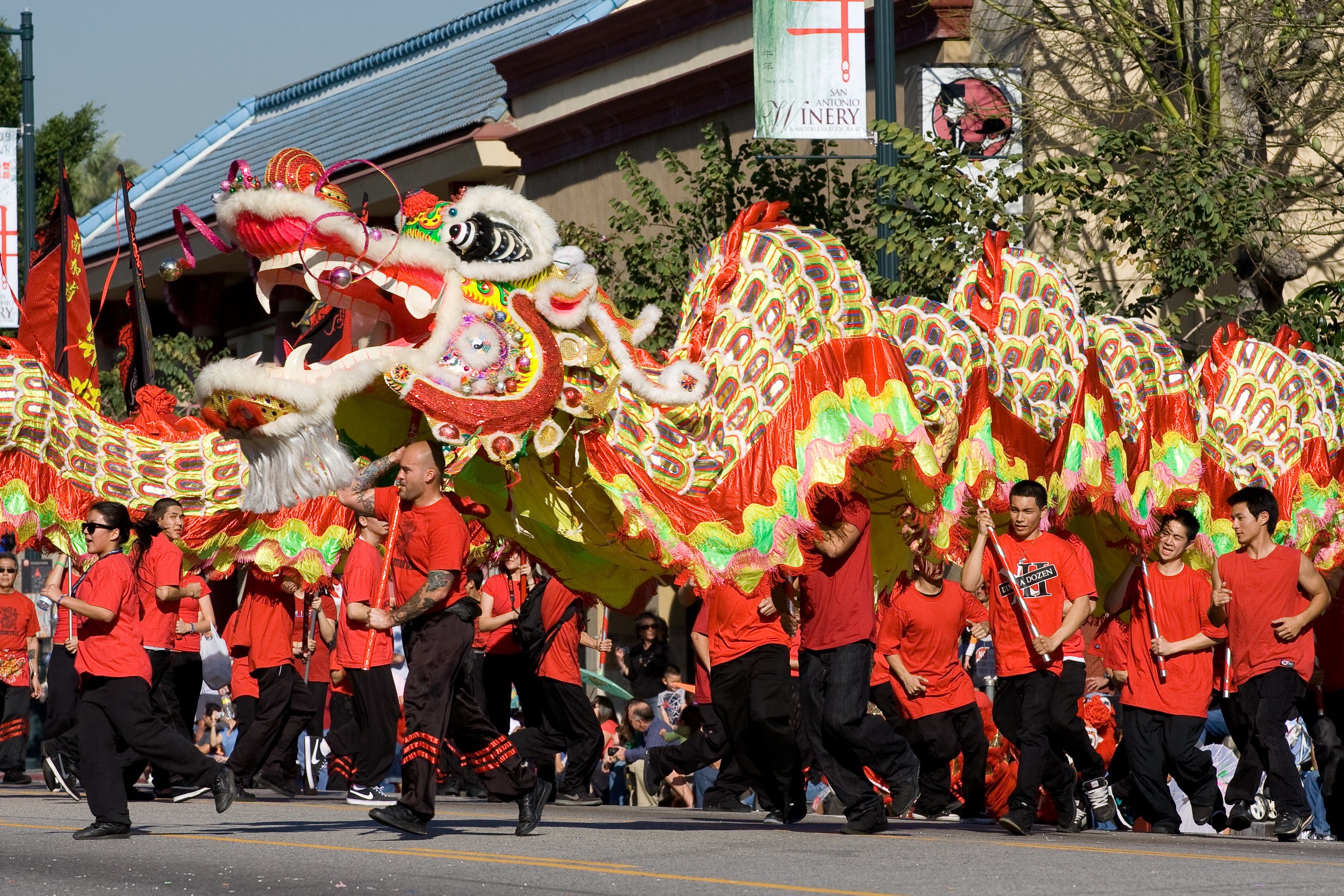 how to do the chinese dragon dance