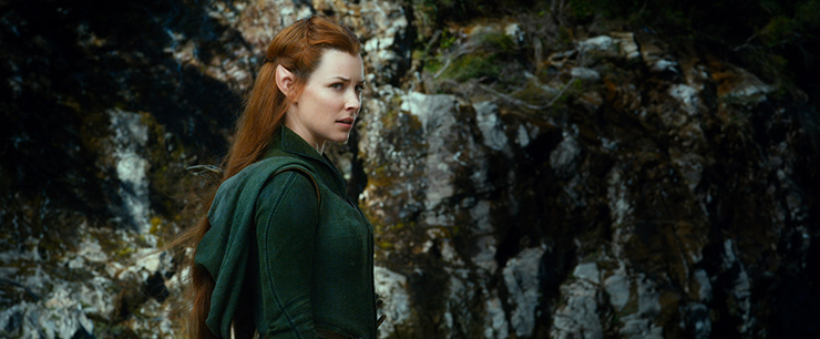 (Evangeline Lilly as Tauriel.)