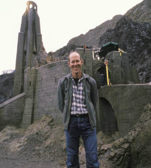 Grant Major on LotR Set