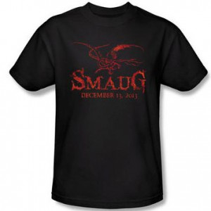 The Hobbit_ The Desolation of Smaug Exclusive Opening Date and Smaug Adult Black T-Shirt | HobbitShop.com -- The Official Online Store of The Hobbit Films and The Lord of the Rings Film Trilogy
