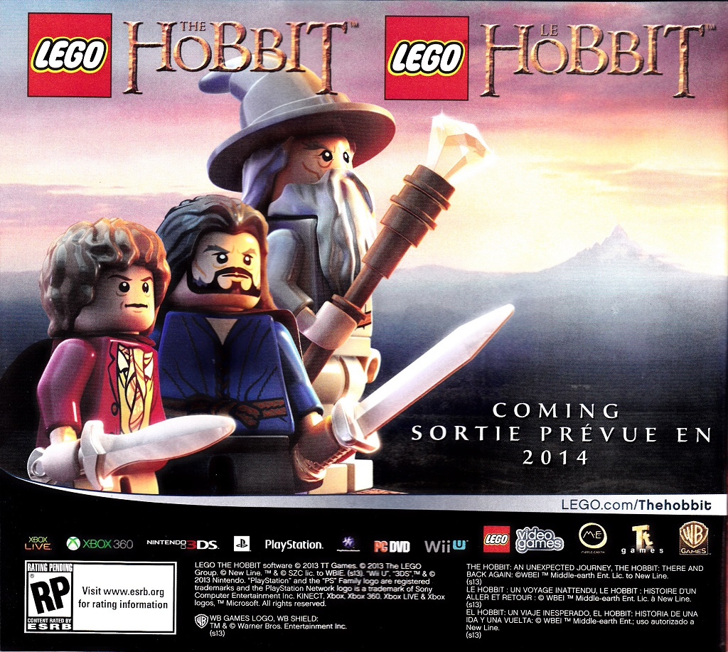Hobbit Lego video game