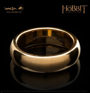 The One Ring - Gold Plated on Tungesten Steel without ring script