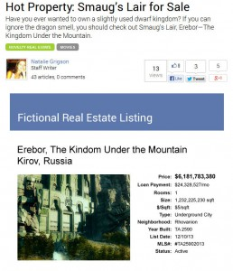 Erebor for Sale
