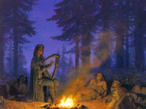 Finrod Felagund and the people of Bëor; art by Ted Nasmith.