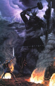 Morgoth and the High King of Noldor, by Ted Nasmith