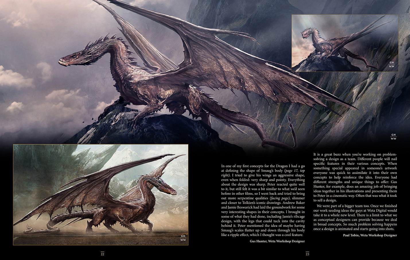 Exclusive look at Weta's new book 'Smaug: Unleashing The Dragon'