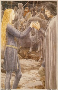 Eowyn and Aragorn by Alan Lee.