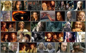Lord of the Ring Hobbit collage