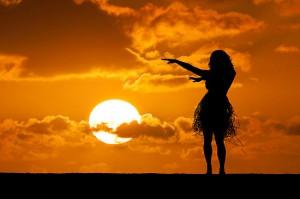 hula sunset
