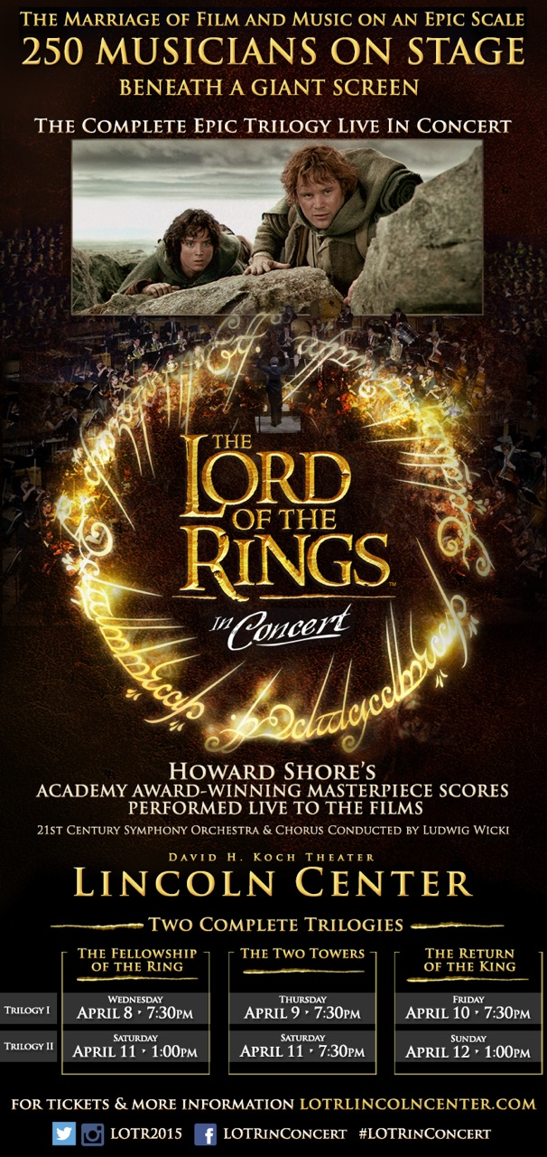 The Lord Of The Rings Trilogy In Concert Lincoln Center