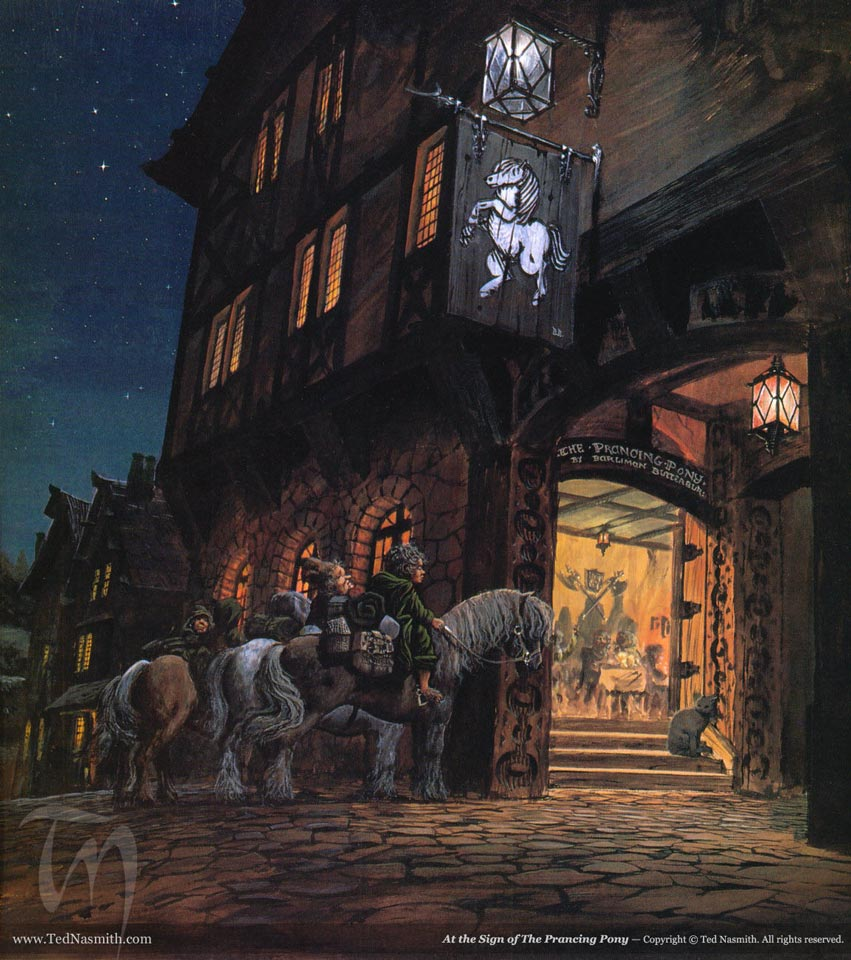 At the Sign of The Prancing Pony, by Ted Nasmith