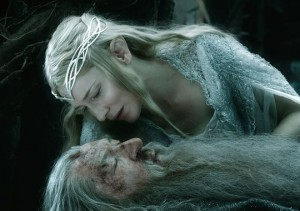 Galadriel and Gandalf at Dol Guldur.