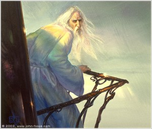 Saruman the White by John Howe.