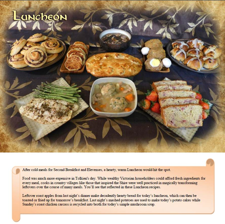 An unexpected cookbook the unofficial book of hobbit cookery a luncheon selections forumfinder Images