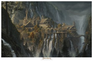 Rivendell Epic Paper Giclee 24 x 36