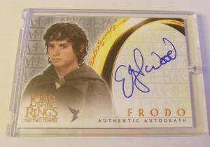 Frodo autograph card