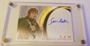 Samwise autograph card