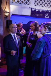 Mark Ordesky chats with partygoers.