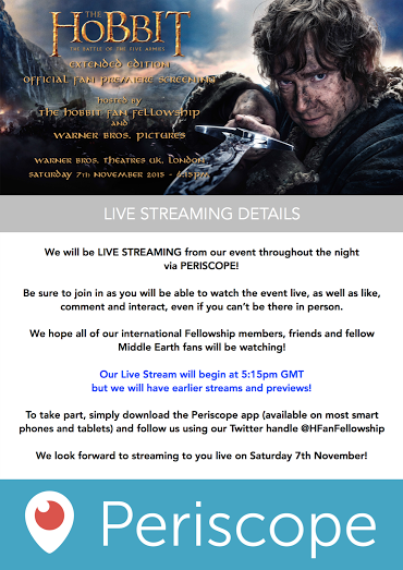 live stream info