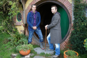 Royd Tolkien and his brother Mike visit Hobbiton.