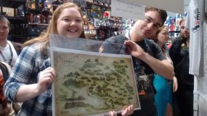 More happy winners taking home Weta's Shire map