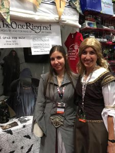 Two strong females of Middle-earth visit the TORn booth
