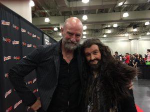 Graham McTavish with Thorin (cosplayer Janette)