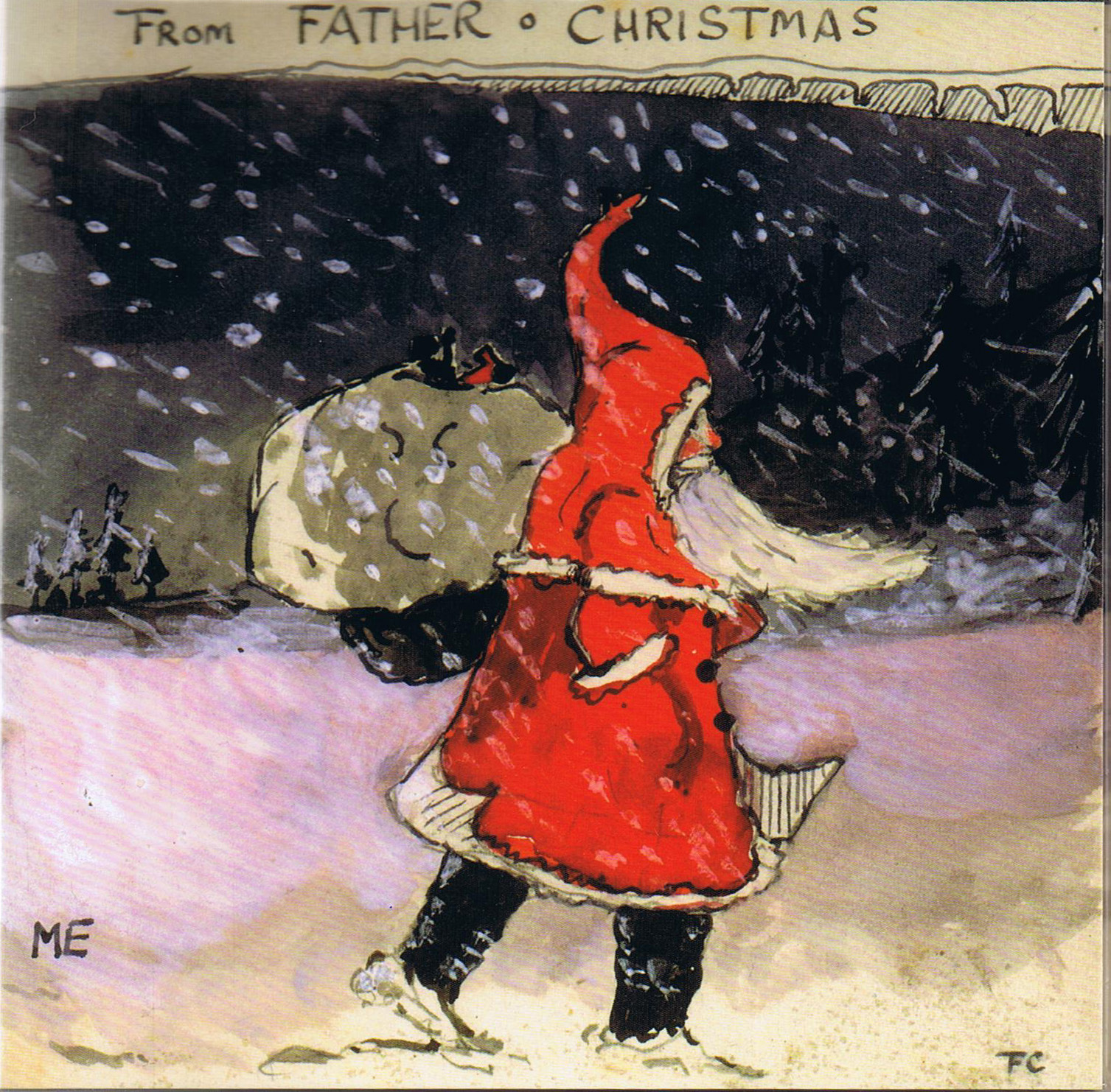 Father Christmas illustration by J.R.R. Tolkien