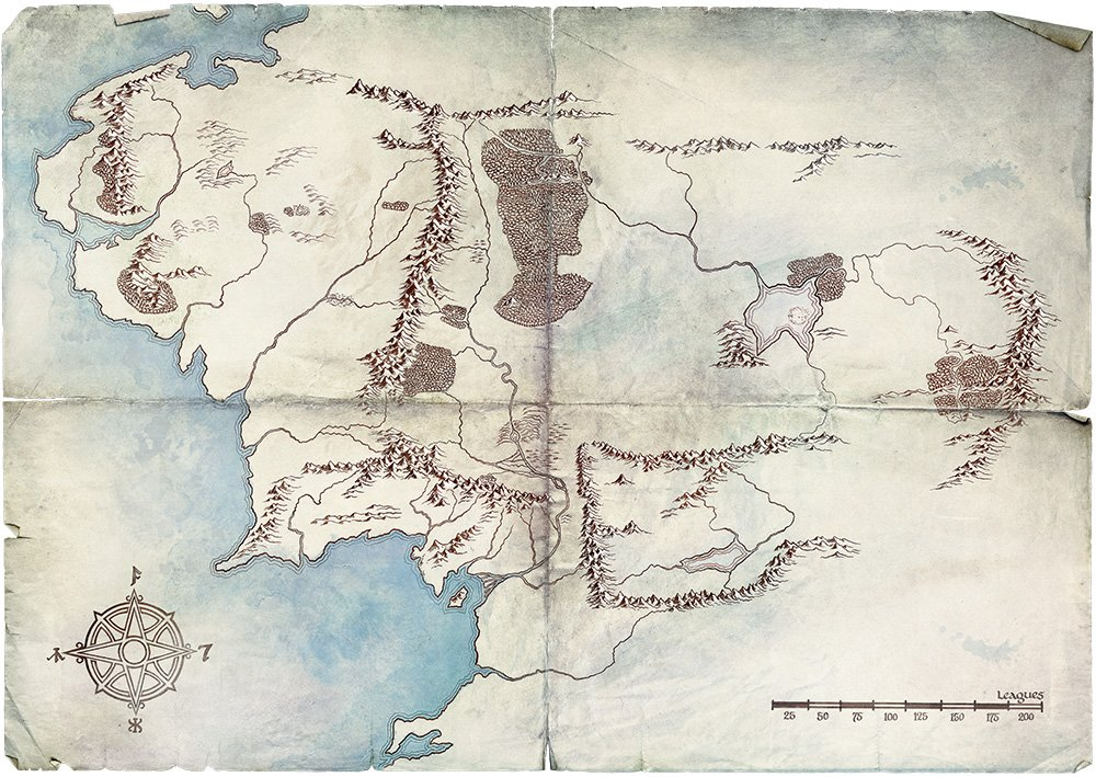 New Map Of Earth.Map Of Middle Earth New Clue To Amazon Tv Series Hobbit Movie