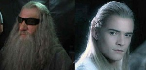 Gandalf and Legolas