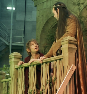 Bilbo and Elrond in Rivendell