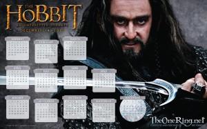 Hobbit Calendar 2012: Thorin