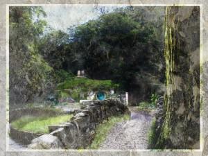 The Shire. An original artwork by John Cockshaw.