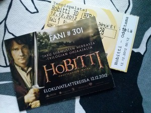 Tickets for the Helsinki debut of The Hobbit: An Unexpected Journey