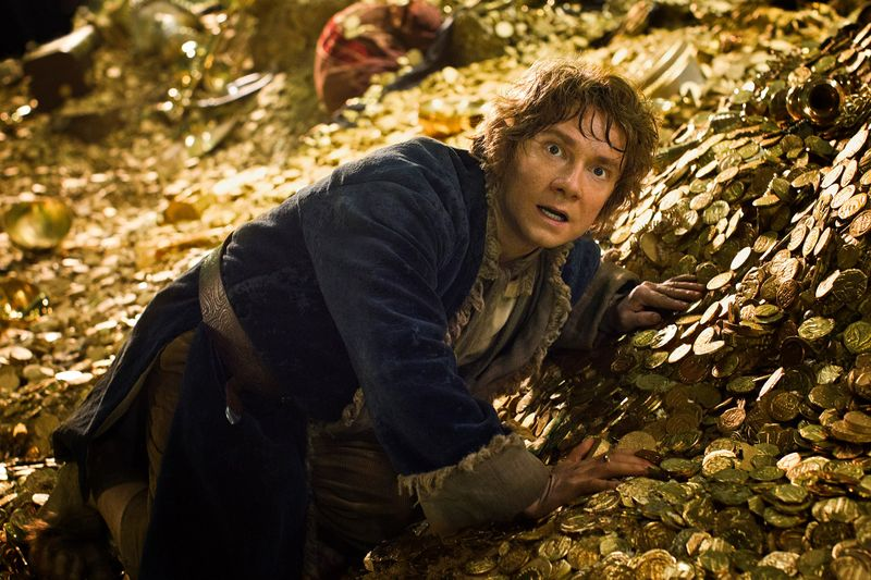 bilbo on gold   Lord of the Rings