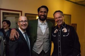 Mark Ordesky with Sala Baker and Bruce Hopkins.