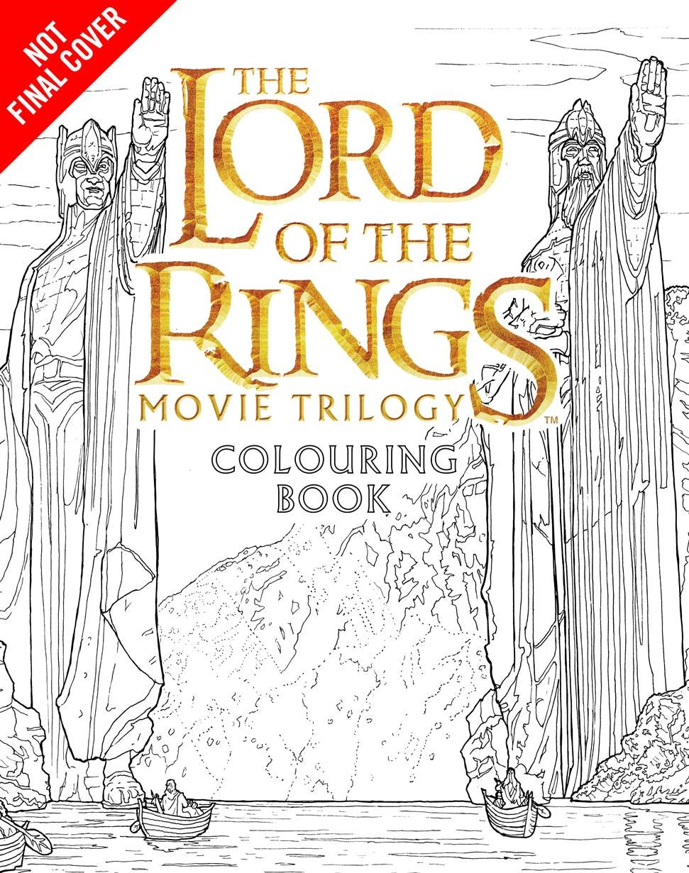 New Merch Lord Of The Rings Colouring Book Hobbit