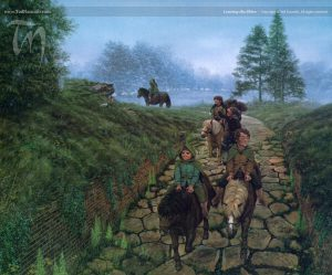 Leaving the Shire, by Ted Nasmith