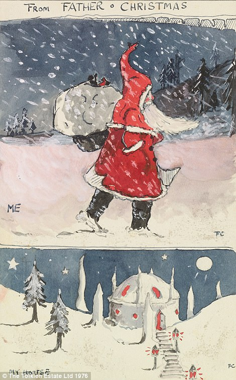 Father Christmas assures young John Tolkien that all is well at the North Pole