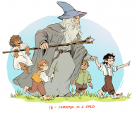 Hobbit children by Molly Ostertag