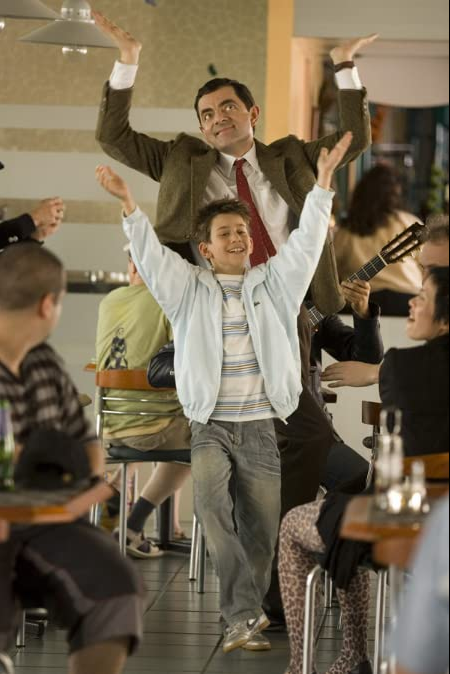 Maxim as sidekick, Stepen, in the 2007 comedy, Mr. Bean's Holiday