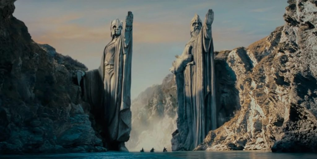 The Argonath - Isildur and Anárion