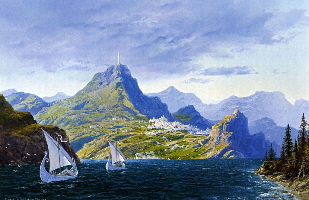 Ted Nasmith - 'The Ships of the Dunédain'