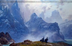 The Blue Wizards Traveling East - Ted Nasmith