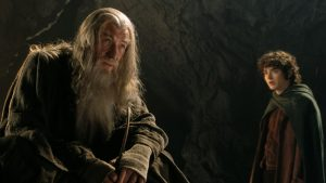 Gandalf and Frodo in Moria