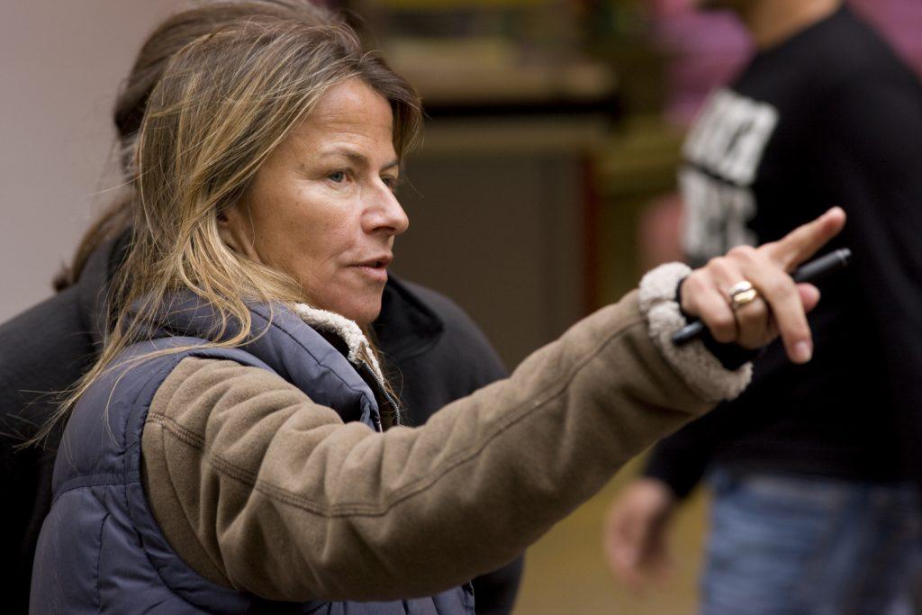 Director Charlotte Brändström, at work on a set.