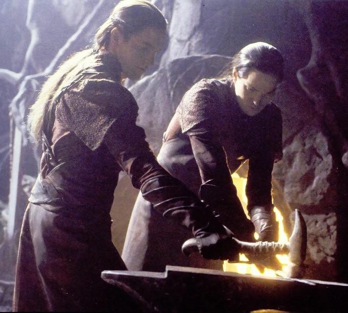Elves forging