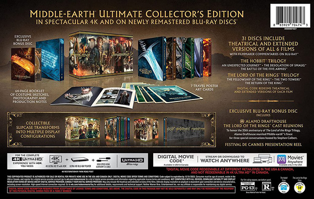 Middle-earth 31-disc Ultimate Collector's Edition