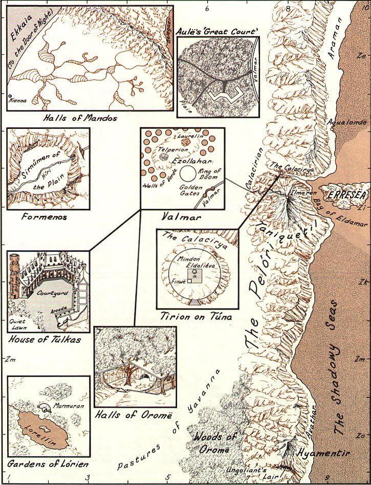 Karen Wynn Fonstad's map of Valinor